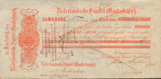 Securities; Bill of exchange Nederlandsche Handel-Maatschappij for 5000 guilders - 1884