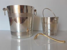 CHRISTOFLE GALLIA - Champagne bucket and Ice bucket (Design by Luc Lanel)