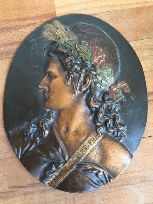 Beautiful old French Marianne plaque - early 20th century - France