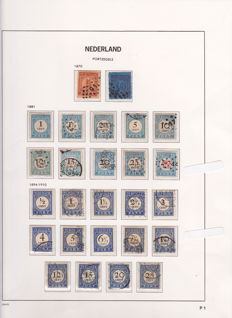 The Netherlands – collection of postage due stamps on Davo album pages and stock cards
