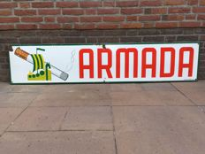 Enamel oblong billboard for Armada cigarettes