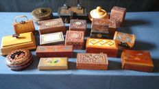 Lot of different collecting and stamp boxes