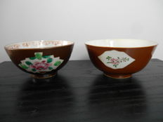 Nicely decorated cafe au lait bowls - China - 18th and 19th century