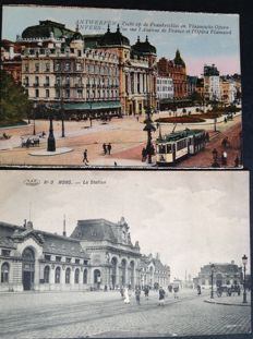 Belgium - cities and towns - 1902 to 1956 - 130 old postcards