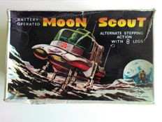 T.N.-Nomura, Japan - Length 17 cm - Plastic battery-operated Moon Scout, 1960s