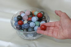 Lot of spheres mixed minerals - 2cm diameter - 2 kg