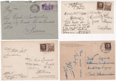Italy, Kingdom – Lot of 13 envelopes and letters and 3 postcards franked with Kingdom and RSI stamps