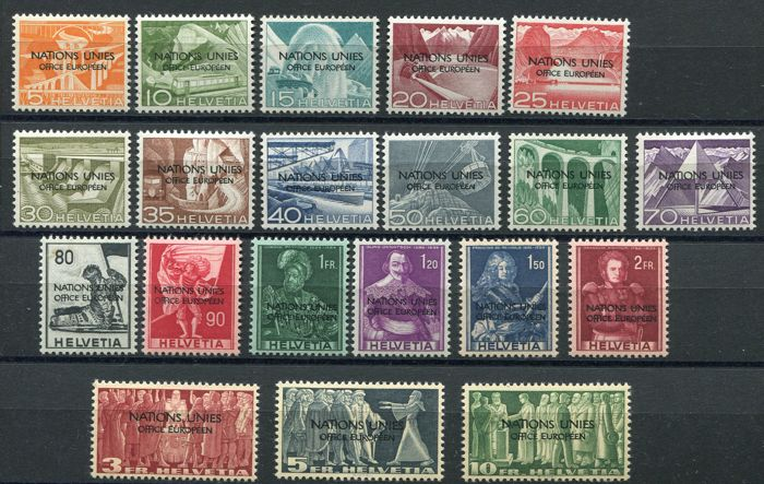 Switzerland 1950 - United Nations - Michel  1/20
