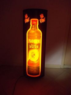 Light box advertising Florijn Jenever Schiedam - Ca. 1980 - Rare piece - In very, very good and working condition.