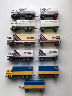 Tekno - Scale 1/50 - Lot with 6 Tekno Scania models