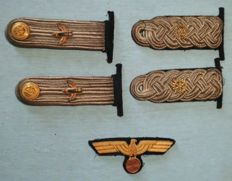 Shoulders pieces / chest eagle officer 3. Reich Germany