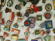 approx. 100 pins from the Eastern bloc, ca. 1980