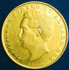 Portugal – 2,000 Réis in Gold – 1866 – Luís I – Lisbon