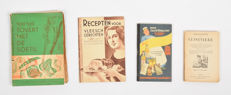 Lot with 4 cookery and recipe books - 1887 / 1963