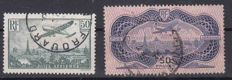 France 1936 – Airmail – Yvert No. 14 and 15