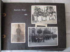 1 private photo album with many soldiers pictures from 1934