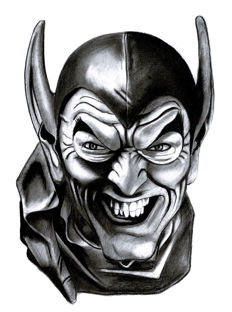 Diego Septiembre - Original Charcoal And Graphite Drawing - The Green Goblin (Spider-man)