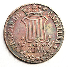 Spain - Isabel II - 6 copper quarters - 1841 - Catalonia