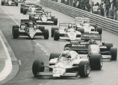1983  Monaco Grand Prix Start Alfa Lotus  Michael Hewett original photograph