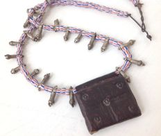 Necklace with Kitabe amulet (leather and parchment) – COPTS – Ethiopia