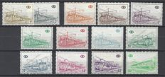Belgium - Railway stamps OBP nos. TR378 through TR398 series B1 White paper - mat gum without no TR390
