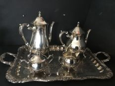 Coffee/tea set with serving tray 1950