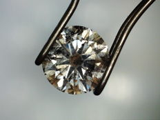 Diamond 0.73 ct Fancy Gray I2