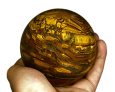 "Multicolor Iron Tiger Eye ""healing ball"" - 95 mm - 1500 gm"