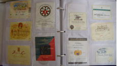 Large lot of 320 different wine labels