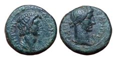 Greek Antiquity - Mysia, Pergamon (o Pergamum), Pseudo-autonomous issue c. 40-60 AD - Æ (16mm; 3,30g.) - Bust of Senate / Turreted bust of Roma - RPC I, 2374