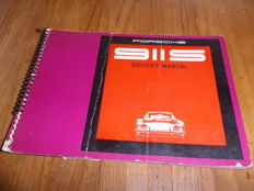 Porsche 911S - Original driver's manual delivered with the new vehicle -1968