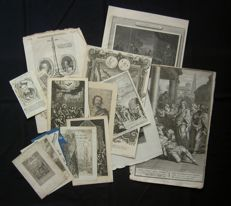 Various Makers - approx 18 religious prints-17th/18th/19th century