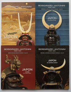 Four Japan auction catalogues from Boisgirard-Antonini, Paris. With more than 1200 items - France - 2014/2016