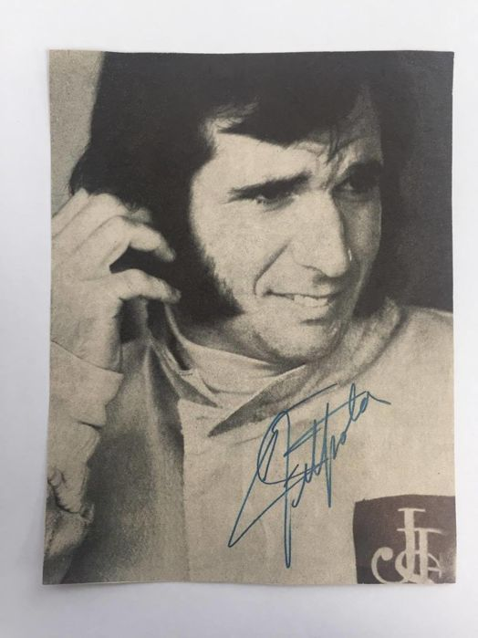 Emerson Fittipaldi Formula One JPS Lotus Autograph / Signature