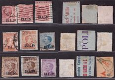 Kingdom of Italy 1921 – Lot of BLP overprinted stamps
