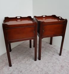 A pair of George III style mahogany side tables - England - ca. 1920