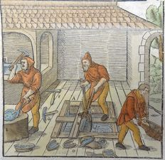 Agricola - Mining: Separating Silver - From Agricola's Renaissance classic De Re Metallica1657
