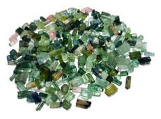 Lot of Multi Colour Tourmaline Crystals -   3  to 16 mm - 235 ct
