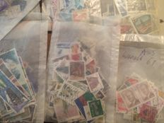 World - 10,000 stamps in bags of various countries, many colonies
