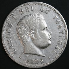 Portugal – 500 Reis in SILVER – Carlos I – 1895 – Lisbon – AG: 11.08 – Very Rare in this Condition