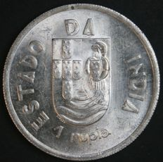 Portugal – 1 Rupia in SILVER – 1935 – Portuguese Republic – Portuguese India - AG: 10.01 – FDC