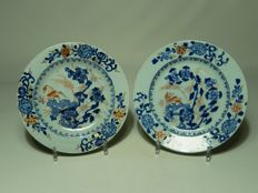 Two special imari plates - China - 18th century