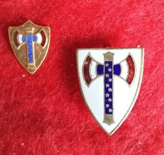 France - Vichy regime WW2 - Order of the Francisque with its miniature