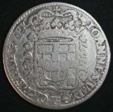 Portugal – 12 Vinténs in SILVER – D. João V – 1747 – Crown with Double Archs – Lisbon - AG: 75.01- Rare