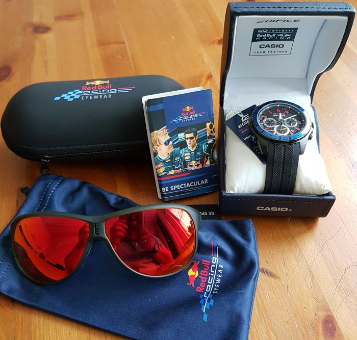 Red Bull Casio Limited Edition watch and Red Bull Spectacular sunglasses