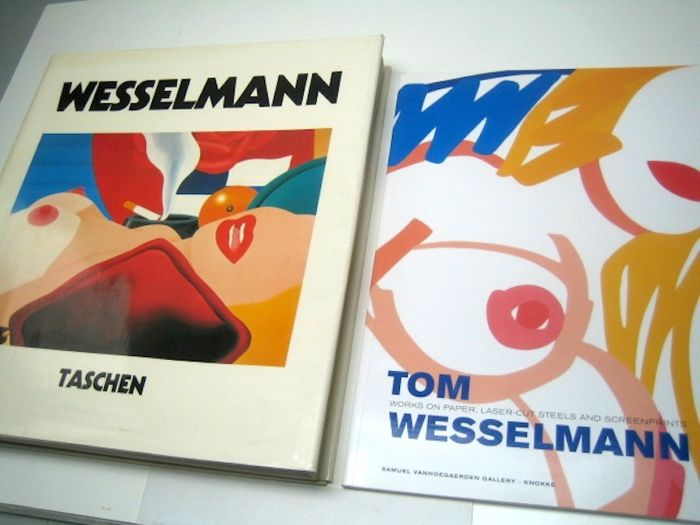 Tom Wesselman; lot with 2 reference books - 1980/2008