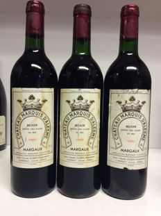 1990 Chateau Marquis d'Alesme Becker, Grand Cru Classe Margaux, France - 3 bottles 0,75l