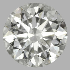 Round Brilliant 0.72ct  F SI2 3EX - EGL USA -Original Image 10X #2016