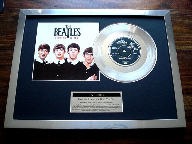 "The Beatles From Me To You platinum plated 7"" record single disc"