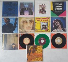 George Harrison - collection of 13 singles mostly with PS | see here-under for more information (Beatles)